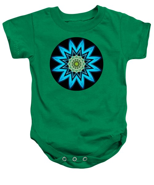Turquoise Star Baby Onesie