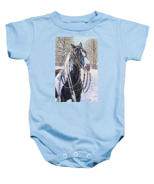 I'm Ready For The Ribbons Gypsy Vanner Horse Baby Onesie