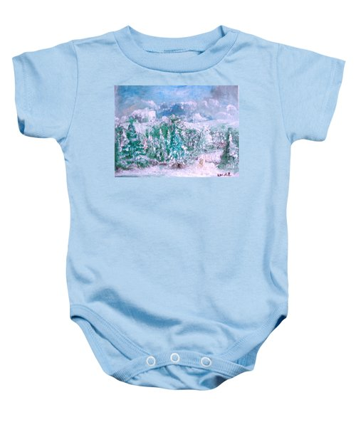 A Natural Christmas Baby Onesie