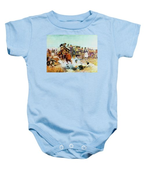 Bronc For Breakfast Baby Onesie