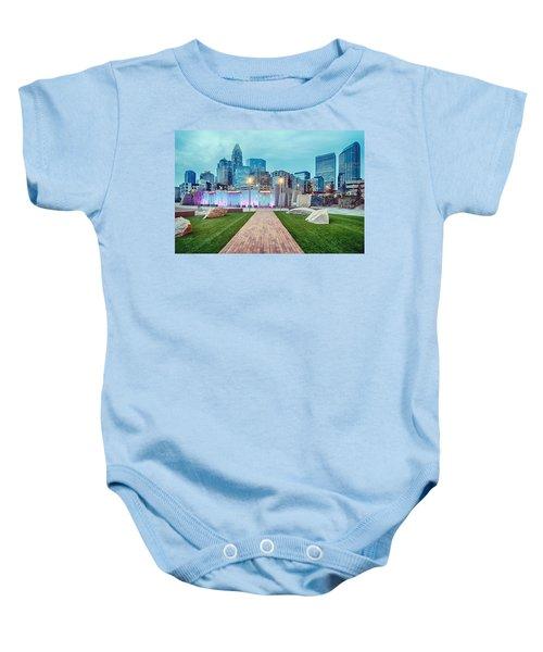 Charlotte City Skyline In The Evening Baby Onesie