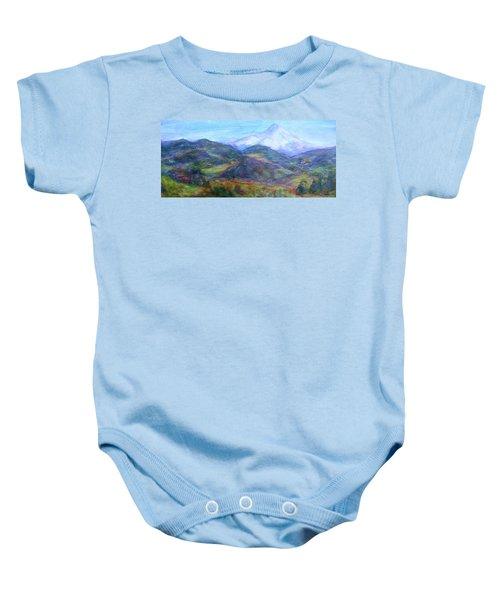 Mountain Patchwork Baby Onesie