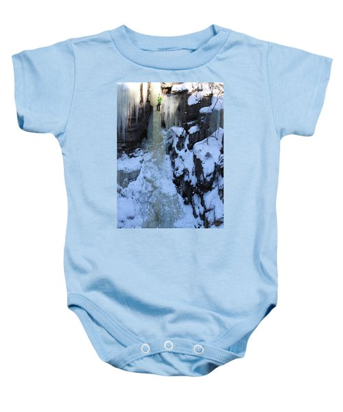 The Wintery Flume  Baby Onesie