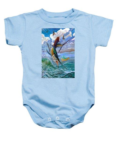 Sailfish And Lure Baby Onesie