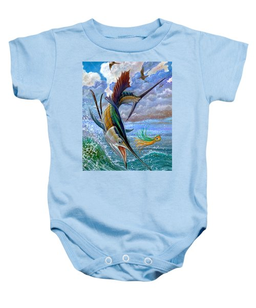 Sailfish And Lure Baby Onesie