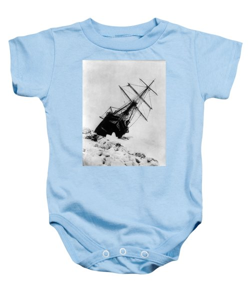 Shackletons Endurance Trapped In Pack Baby Onesie