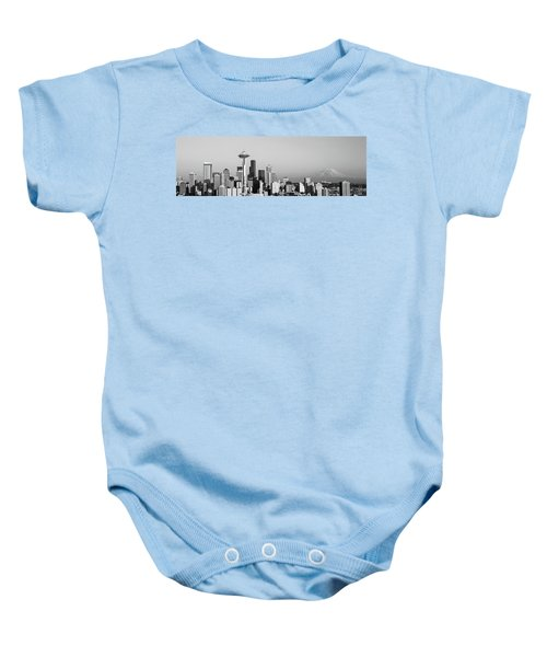 Skyline, Seattle, Washington State, Usa Baby Onesie by Panoramic Images