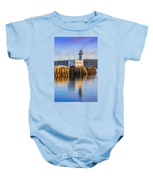 Sunset Over Scarborough Lighthouse Baby Onesie