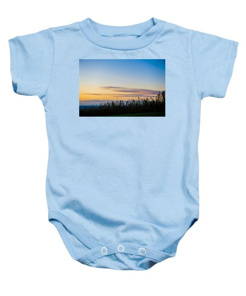 Sunset Over The Field Baby Onesie