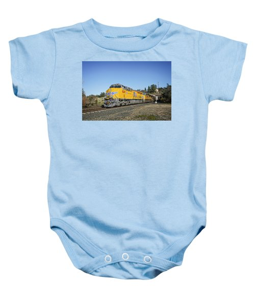 Baby Onesie featuring the photograph Up 8267 by Jim Thompson