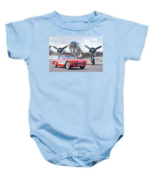 1957 Chevrolet Corvette Baby Onesie