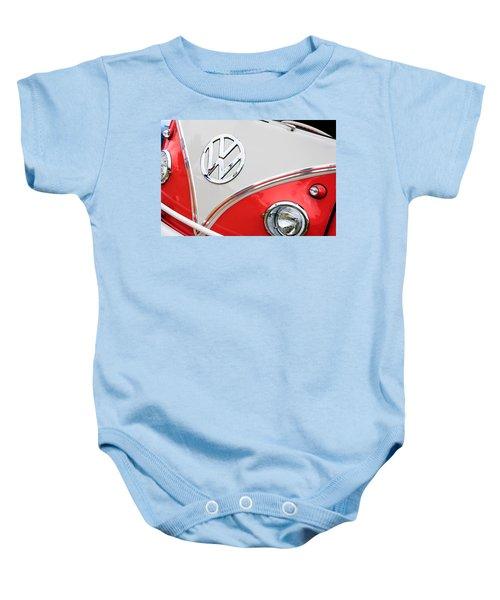 1960 Volkswagen Vw 23 Window Microbus Emblem Baby Onesie