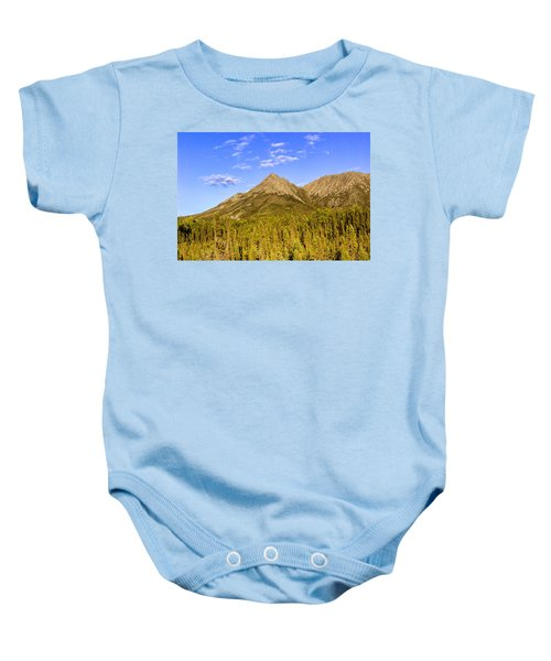 Alaska Mountains Baby Onesie