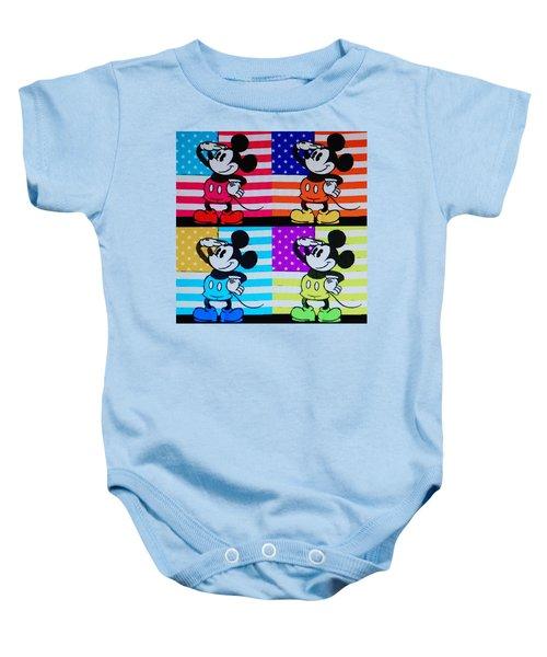 American Mickey Baby Onesie
