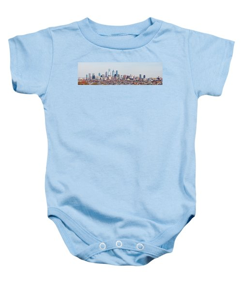 Buildings In A City, Comcast Center Baby Onesie by Panoramic Images