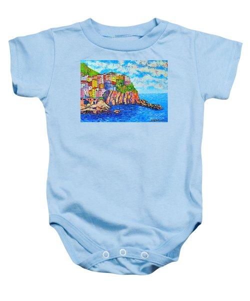 Manarola Cinque Terre Italy  Baby Onesie