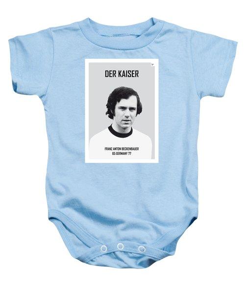 My Maradona Soccer Legend Poster Baby Onesie