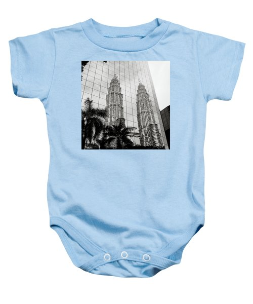 Petronas Towers Reflection Baby Onesie