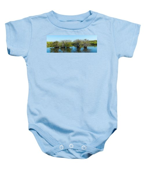 Reflection Of Trees In A Lake, Anhinga Baby Onesie