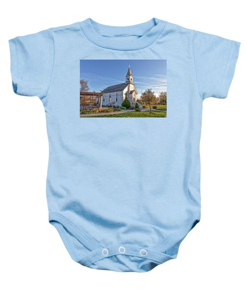 Baby Onesie featuring the photograph St. Mary's Chapel by Jim Thompson