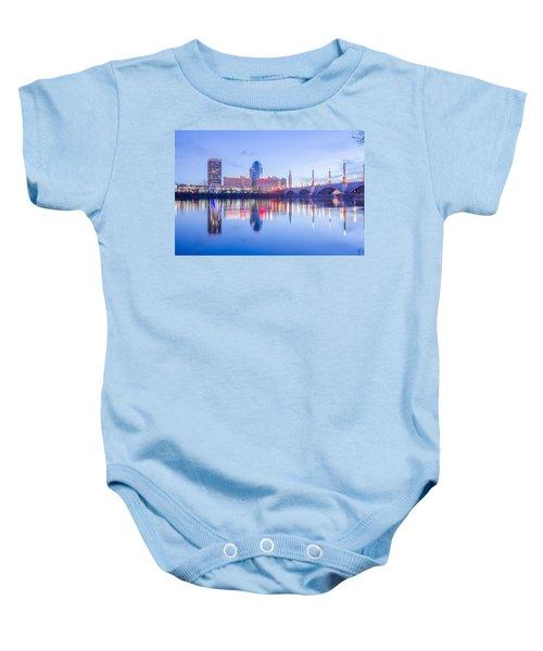 Springfield Massachusetts City Skyline Early Morning Baby Onesie
