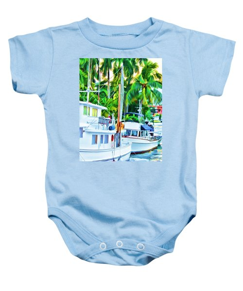 Two Boats Baby Onesie