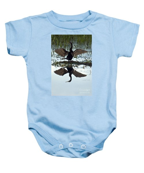 Anhinga Baby Onesie by Mark Newman