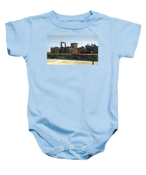 Manhattan Bridge Loop Baby Onesie