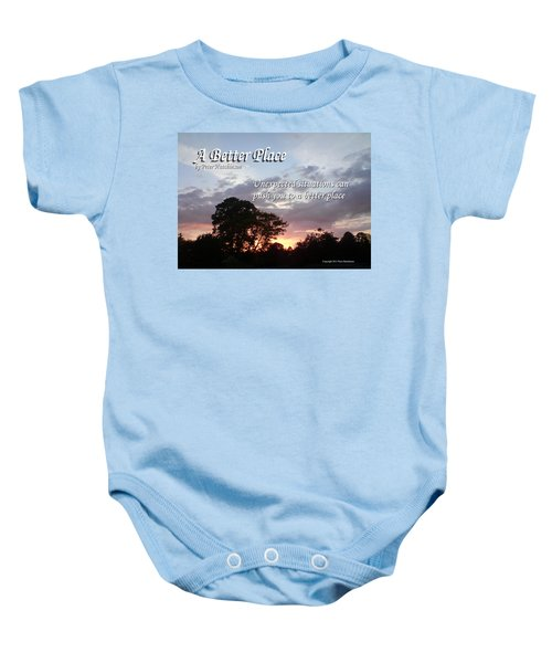 A Better Place Baby Onesie