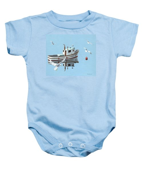 A Contemplation Of Seagulls Baby Onesie