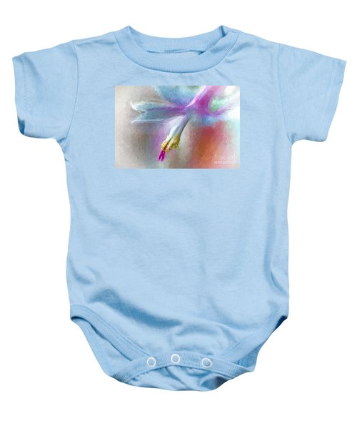 A Painted Christmas Cactus  Baby Onesie