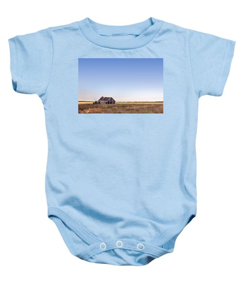 Abandoned Farmhouse In A Field Baby Onesie