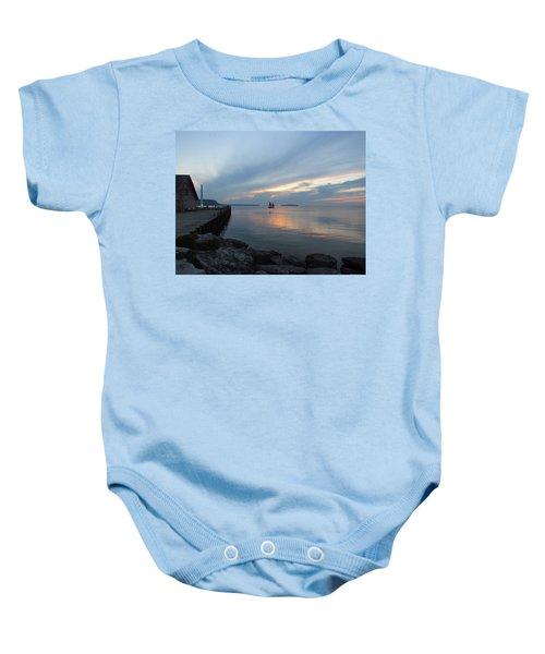 Anderson Dock Sunset Baby Onesie