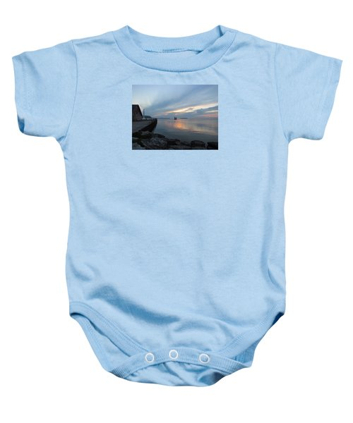 Anderson Dock Sunset Baby Onesie