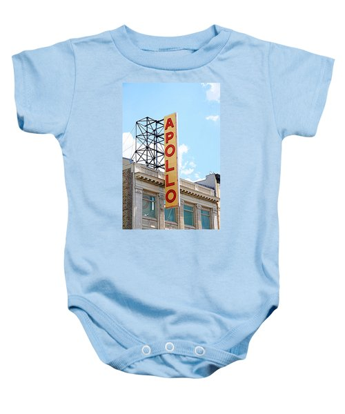 Apollo Theater Sign Baby Onesie by Valentino Visentini