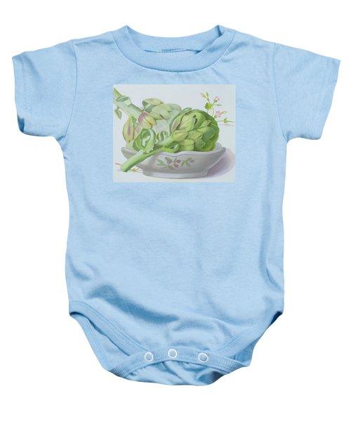 Artichokes Baby Onesie by Lizzie Riches