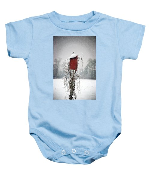 At Home In The Snow Baby Onesie