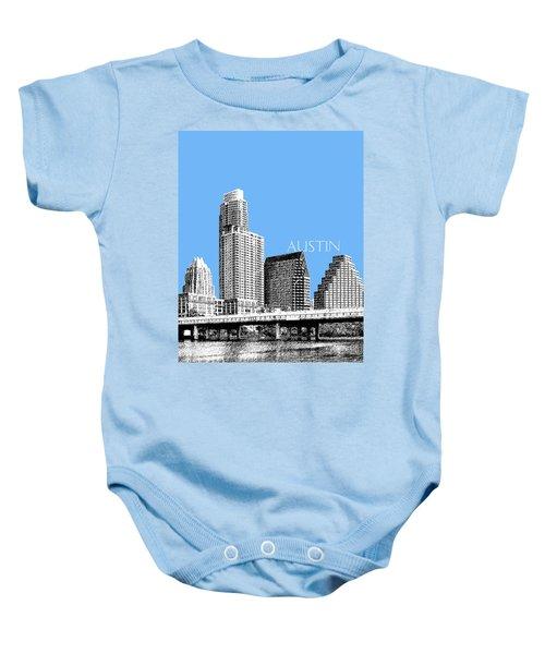 Austin Skyline - Sky Blue Baby Onesie