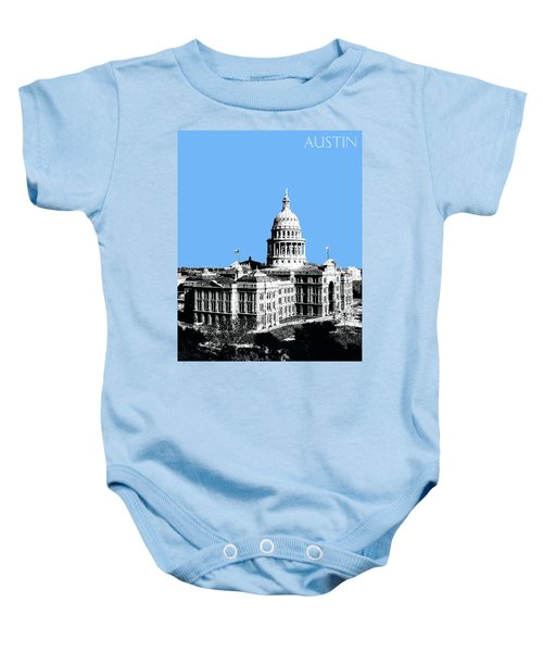 Austin Texas Capital - Sky Blue Baby Onesie
