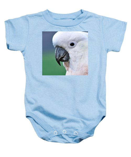 Australian Birds - Cockatoo Up Close Baby Onesie by Kaye Menner