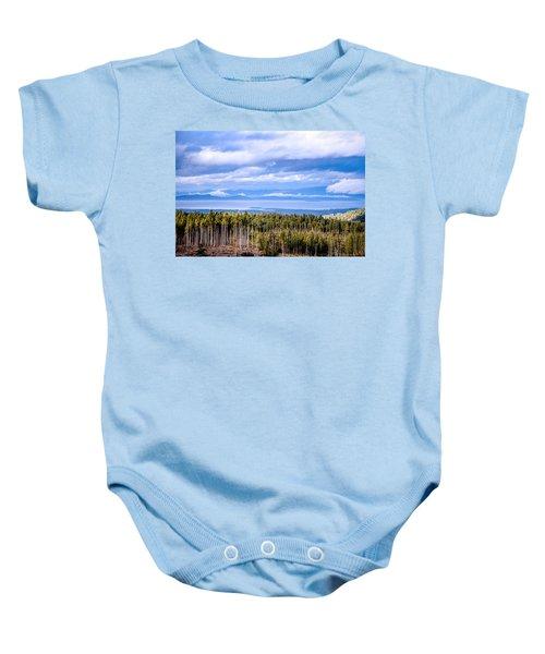 Johnstone Strait High Elevation View Baby Onesie