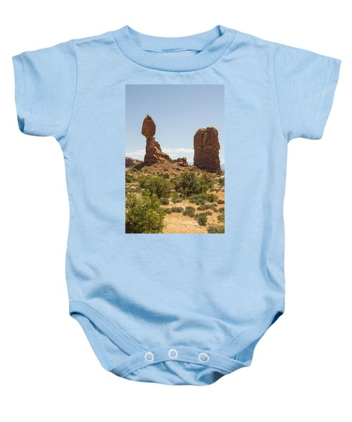 Balancing Rock In Arches Baby Onesie