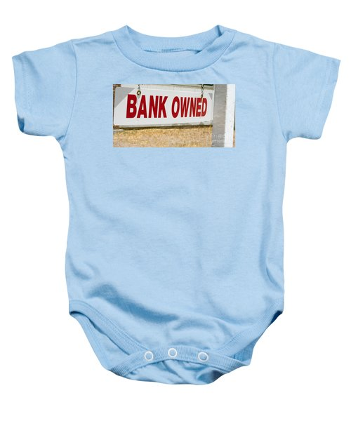 Bank Owned Real Estate Sign Baby Onesie