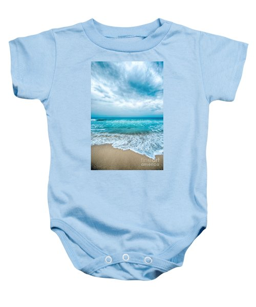 Beach And Waves Baby Onesie