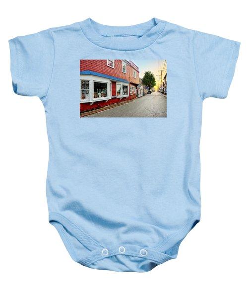 Bearskin Neck Rockport Massachusetts Baby Onesie