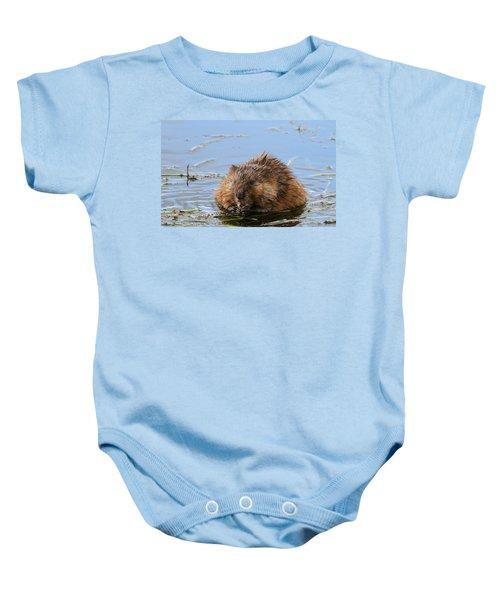 Beaver Portrait Baby Onesie