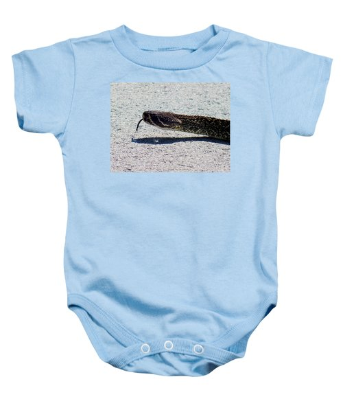 Beware Of Me Baby Onesie by Karen Wiles