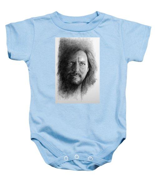 Black And White Vedder Baby Onesie by William Walts