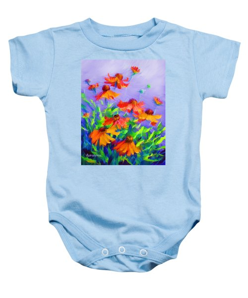 Blowing In The Wind Baby Onesie