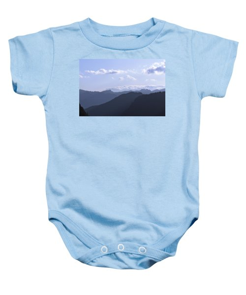 Blue Mountains Baby Onesie